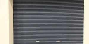 dark grey roller door