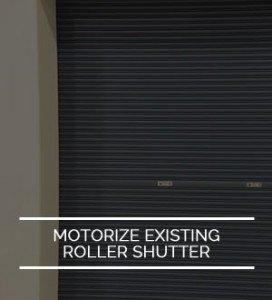 motorized roller shutter