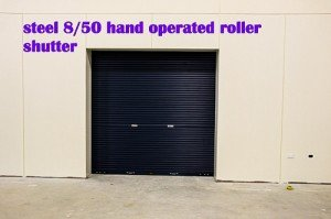 steel hand operated roller shutter
